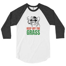 Load image into Gallery viewer, Keep Off The Grass Raglan Tee - What The Fuss Apparel