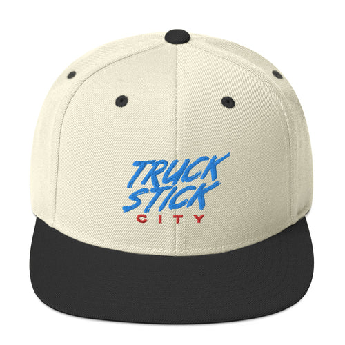 Truck Stick City Snapback Hat - What The Fuss Apparel