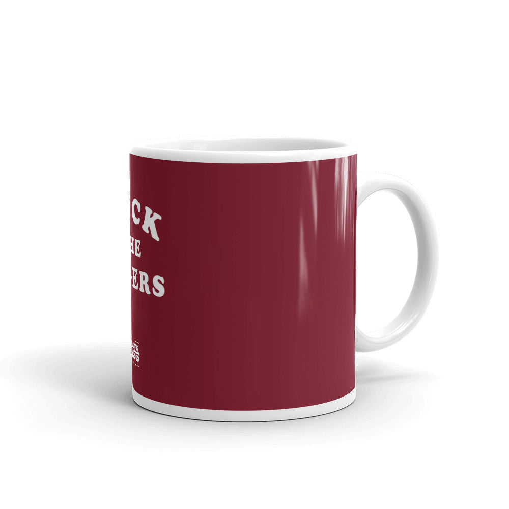 Tuck The Figers Coffee Mug Crimson - What The Fuss Apparel