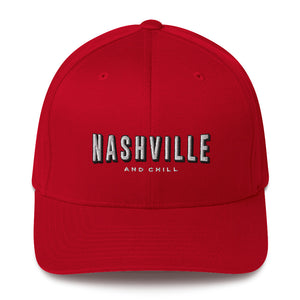 Nashville & Chill Structured Twill Cap - What The Fuss Apparel