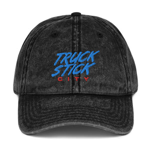Truck Stick City Vintage Cotton Twill Cap - What The Fuss Apparel