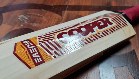 CUSTOM COLOURED STICKERS | Cooper Cricket