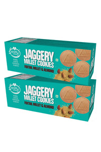 Pack of 2 - Foxtail Millet & Almond Jaggery Cookies