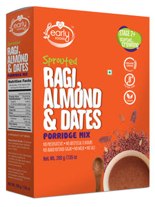 Sprouted Ragi, Almond & Date Porridge Mix 200g