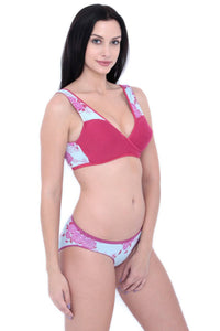 Inner Sense Organic Cotton Antimicrobial Sleeping/Feeding Bra & Panty Set