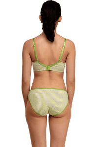Inner Sense Organic Cotton Blended Seamless Non-Padded Lace touch Bra & Panty Set
