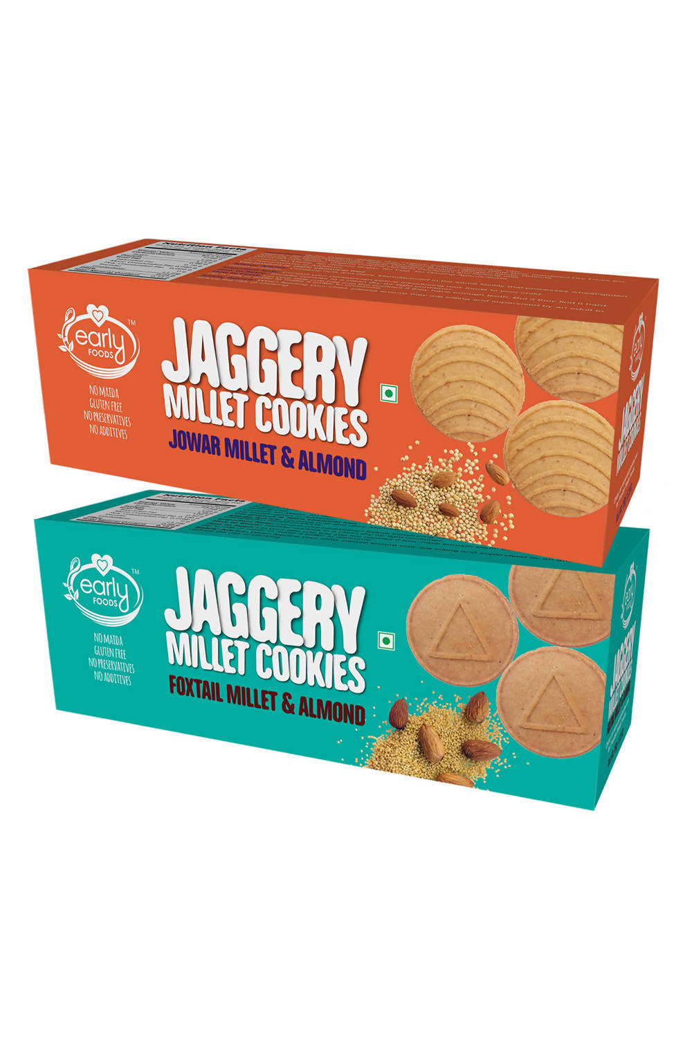 Assorted Pack - Jowar & Foxtail Almond Jaggery Cookies