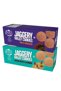 Assorted Pack Foxtail Almond & Ragi Choco Jaggery Cookies