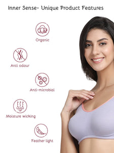 Inner Sense Organic Cotton Antimicrobial Soft Nursing Bra
