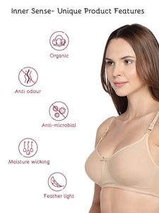 Inner Sense Organic Cotton Antimicrobial Soft feeding Bra