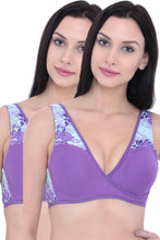 Load image into Gallery viewer, Organic Cotton Antimicrobial Sleeping/Feeding Bra Combo