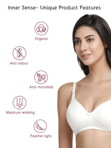 Inner Sense Organic Antimicrobial Padded Non-Wired Feeding Bra