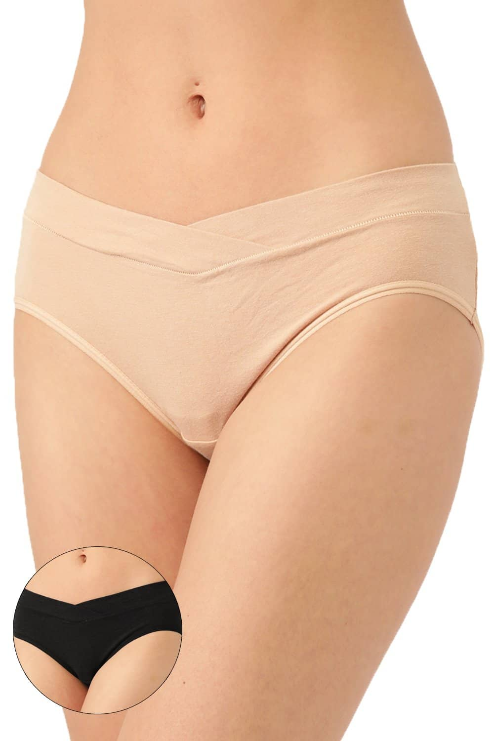Inner Sense Organic Cotton Antimicrobial Maternity Panty - Pack of 2