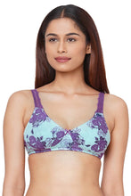 Load image into Gallery viewer, Inner Sense Organic Cotton Antimicrobial Lace Back Lightly Padded Non-wired Bra