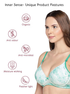 Inner Sense Organic Cotton Antimicrobial Padded Underwired Push-up Bra