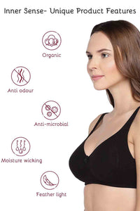 Inner Sense Organic Cotton Antimicrobial Seamless Side Support Bra