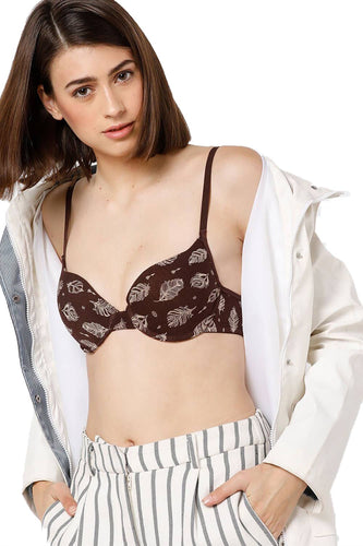 Organic Cotton Antimicrobial Padded Underwired T-shirt Bra