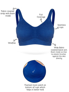 Inner Sense Organic Antimicrobial Soft Cup Full Coverage Bra