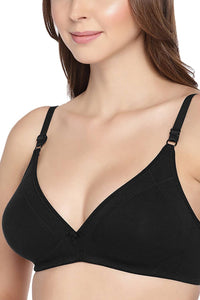 Inner Sense Organic Cotton Antimicrobial Seamless Triangular Bra with Supportive Stitch
