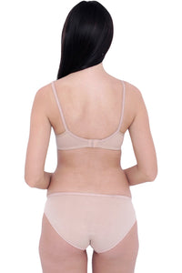 Organic Cotton Antimicrobial Cross over Bra & Panty Set - Inner Sense