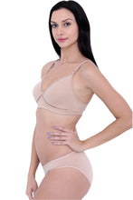 Load image into Gallery viewer, Organic Cotton Antimicrobial Cross over Bra & Panty Set