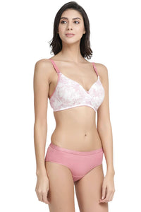 Inner Sense Organic Antimicrobial Wire-Free Padded Bra & Panty Set