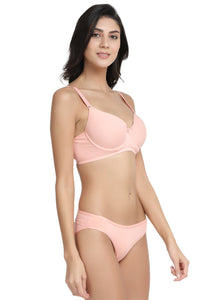 Inner Sense Organic Cotton Antimicrobial Padded Underwired Bra & Panty Set