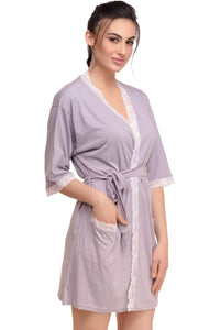 Inner Sense Organic Antimicrobial Women's Sleepwear Loungewear Robe