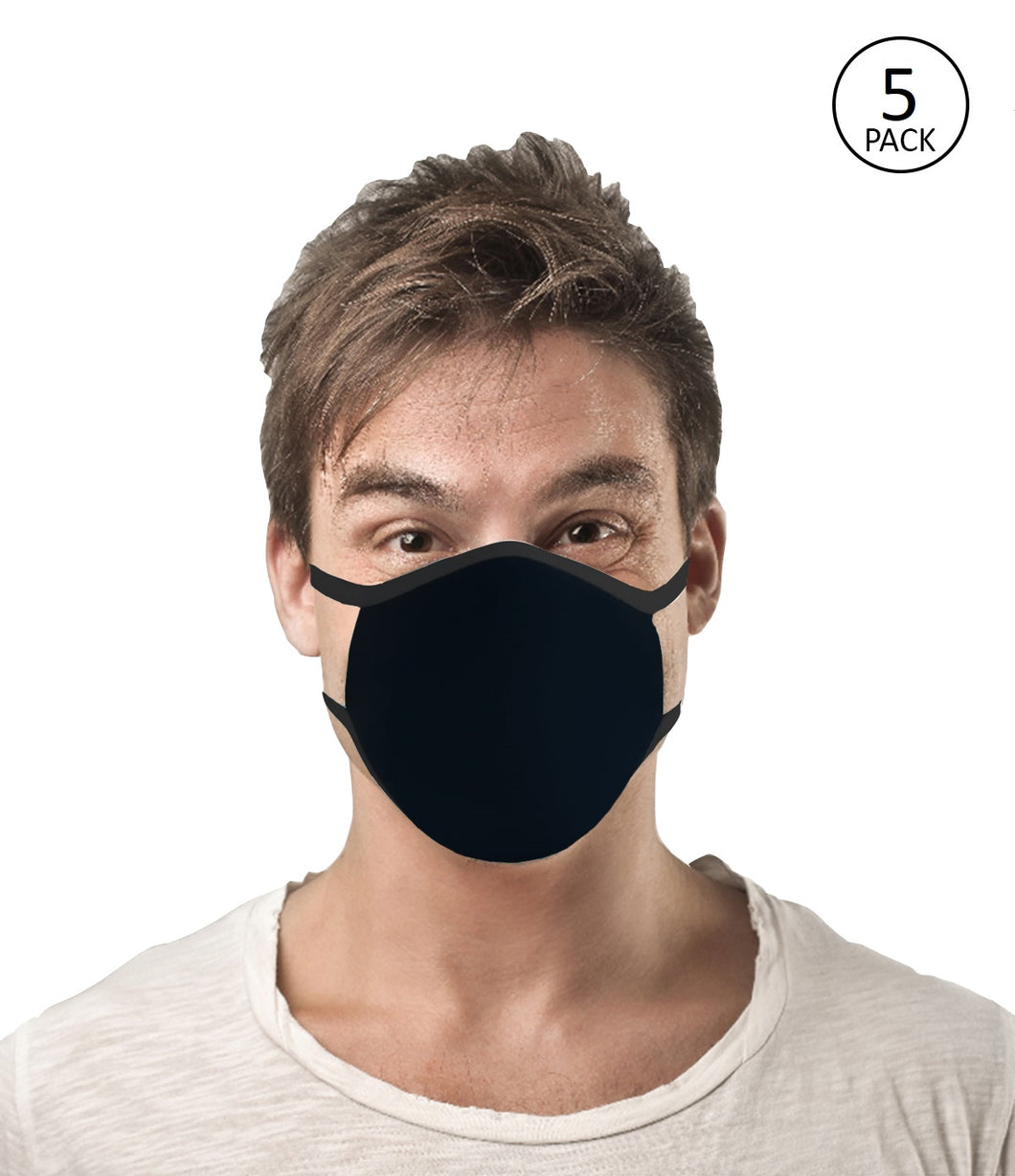 Black Face Mask Pack of 5
