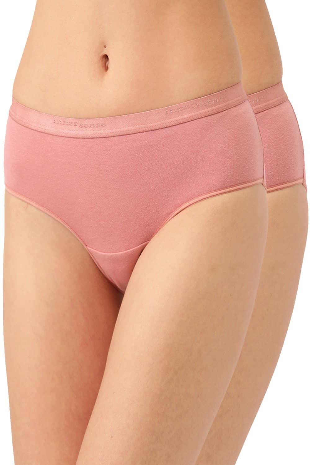 Inner Sense Organic Cotton Antimicrobial High waist Hipster (Pack Of 2)