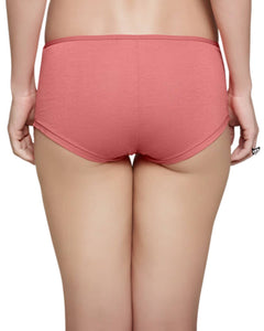 Inner Sense Organic Cotton Antimicrobial laced Boyshorts