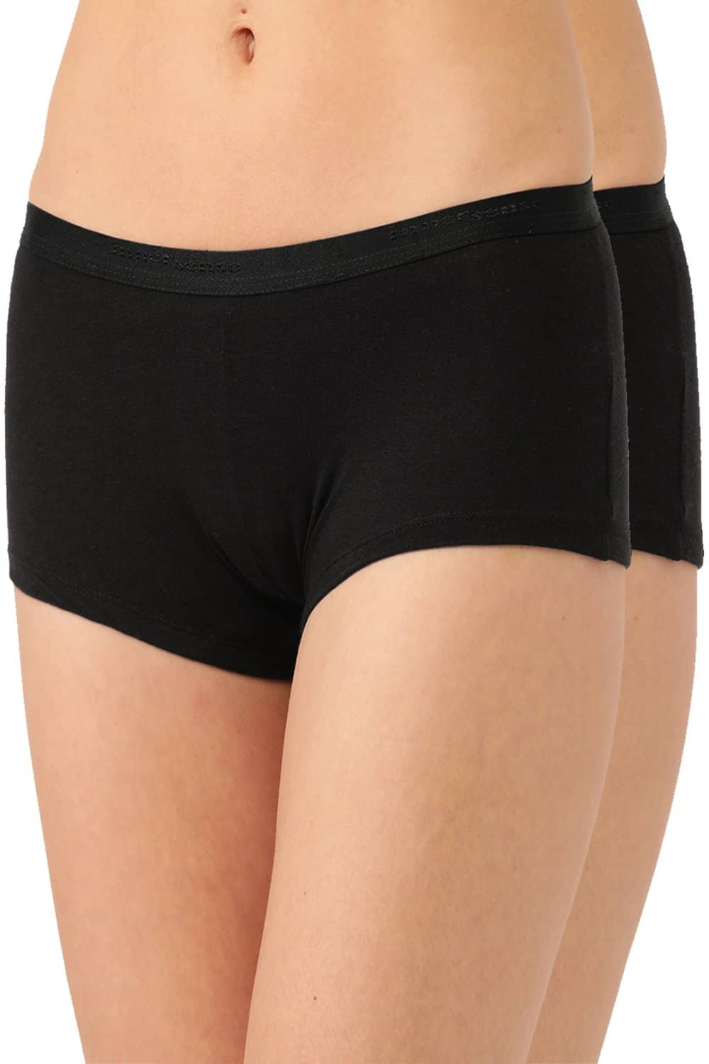 Inner Sense Organic Cotton Antimicrobial BoyShorts (Pack Of 2)