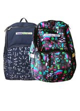 Load image into Gallery viewer, Unisex prints for parents to carry Superbottoms Superbackpack for Parents On The Go - Rimzim Print (Black)