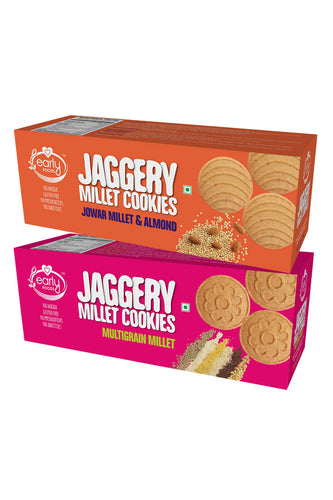 Assorted Pack - Jowar & Multigrain Millet Jaggery Cookies