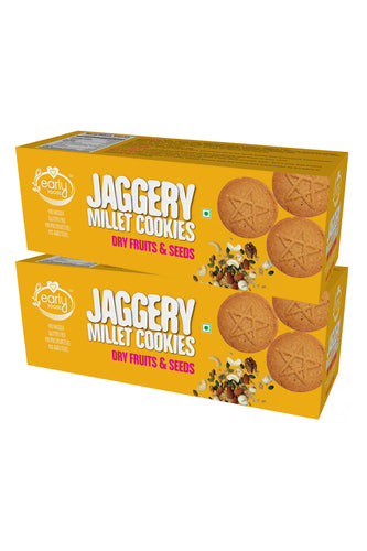 Pack of 2 - Organic Dry fruits and Seeds Jaggery Cookies