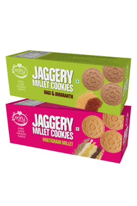 Assorted Pack - Multigrain Millet & Ragi Amaranth Jaggery Cookies
