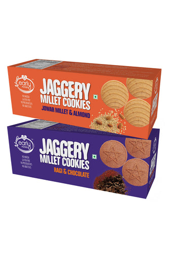 Assorted Pack - Jowar & Ragi Choco Jaggery Cookies
