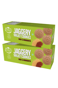 Pack of 2 - Organic Ragi & Amaranth Jaggery Cookies