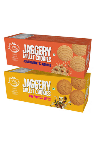 Assorted Pack - Jowar & Dry Fruit Jaggery Cookies