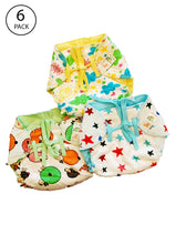 Load image into Gallery viewer, Superbottoms SuperNappy- Organic cotton nappy with Superdryfeel layer - Pack of 6 Printed