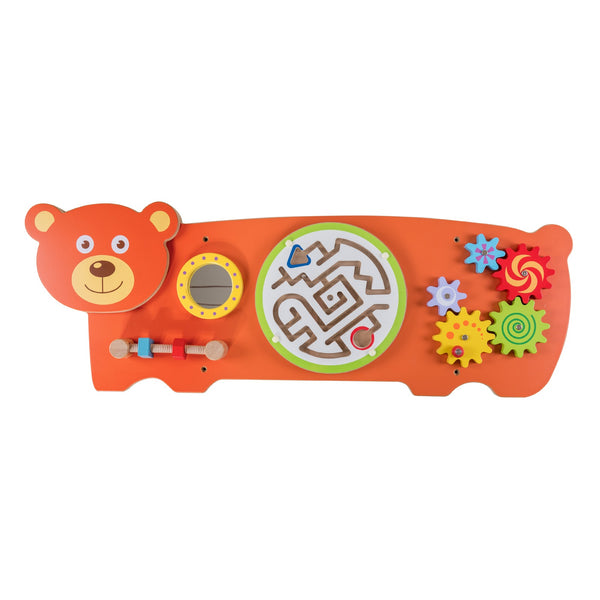 Eliiti Wall Hanging Wooden Multi-Functional Gears Maze Puzzle for Toddlers Kids 3-6 Years Old Bear