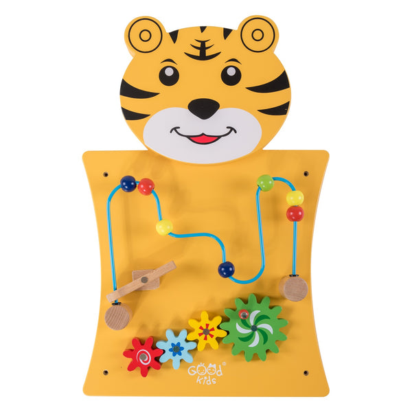 Eliiti Wall Hanging Wooden Multi-Functional Gears & Beads Puzzle for Toddlers Kids 3-6 Years Old Tiger