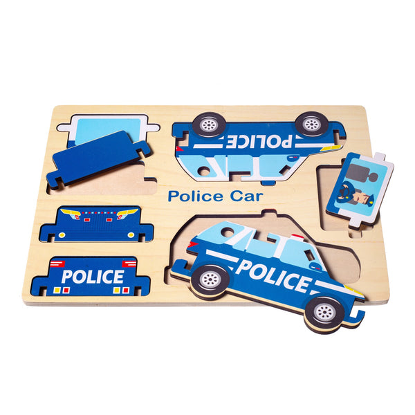 Eliiti Wooden 3D Vehicle Puzzles Set for Toddlers Boys Kids 3 to 6 Years Old School Bus, Tractor, Truck, Police Car