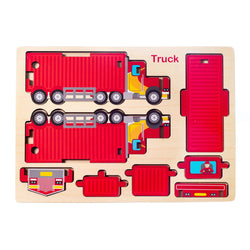 Eliiti Easy-to-Assemble Wooden Truck 3D Vehicle Puzzle for Toddlers Boys Kids 3 to 6 Years Old 8 Pcs