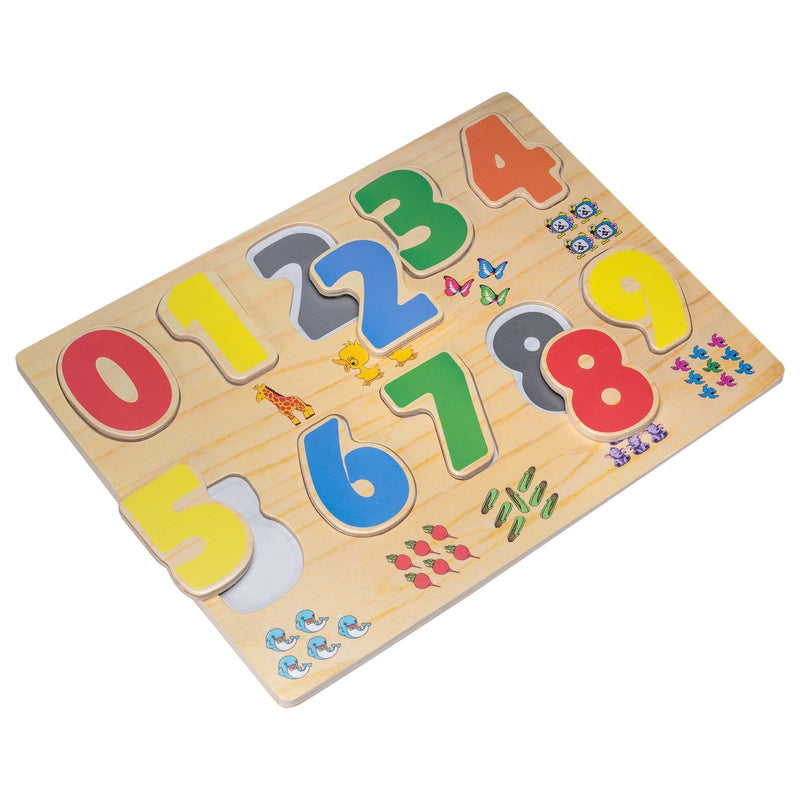 Eliiti Wooden Peg Puzzle Set for Toddlers 2 to 4 Years Old Alphabet Numbers Colors & Shapes
