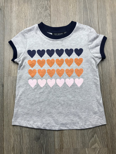 Tiny Whales Girls Heart Stack T-shirt