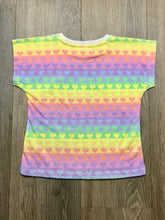 Load image into Gallery viewer, Paper Wings Rainbow Zebra Girls T-shirt