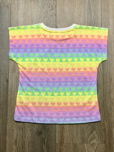 Paper Wings Rainbow Zebra Girls T-shirt