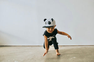 Whistle and Flute Panda Trucker Hat