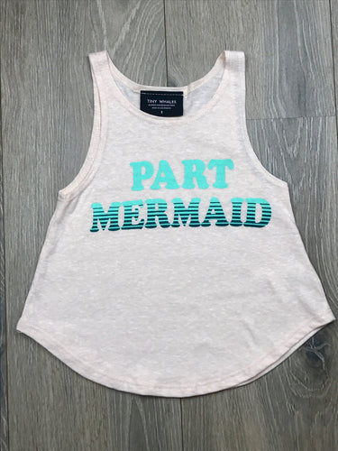 Tiny Whales Girls Part Mermaid Tank Top